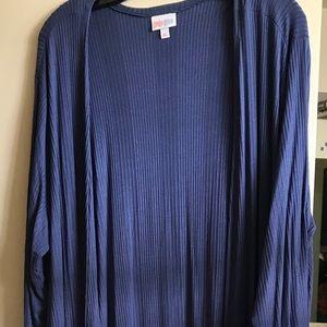 XL LuLaRoe Sarah Grey-blue ribbed w/pockets
